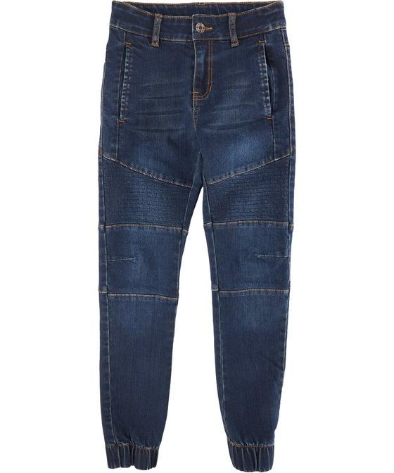 Kids' Cuffed Moto Jean