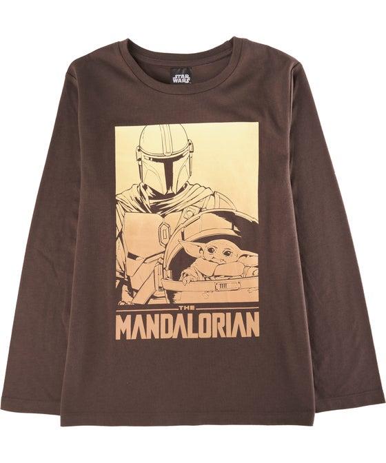 Kids' Long Sleeve Licensed Mandalorian Tee