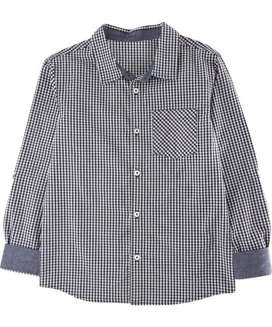 Kids' Long Sleeve Mini Me Cotton Shirt