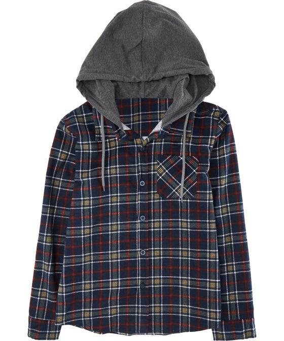 Kids' Mini Me Hooded Flannel Shirt
