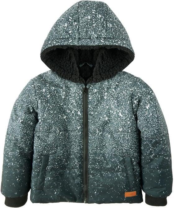 Kids' Sherpa Lined Print Puffer Jacket