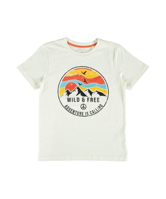 Kids' Short Sleeve Print Front T-shirt