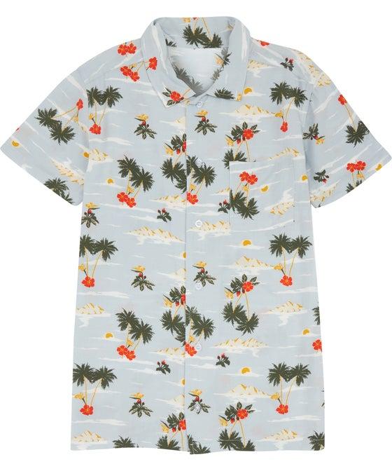 Kids' Short Sleeve Printed Viscose Shirt