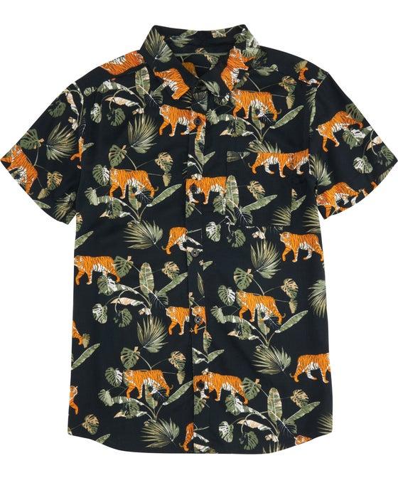 Kids' Short Sleeve Viscose Printed Shirt