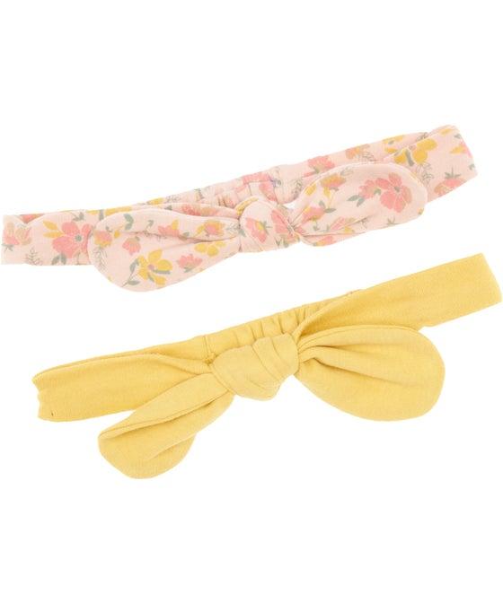 Babies' 2 Pack Organic Cotton Headbands
