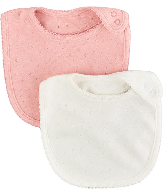 Babies' 2 Pack Pointelle Bibs