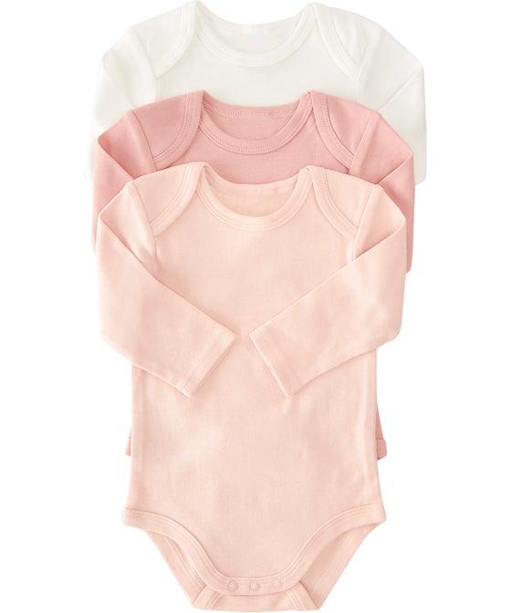Babies 3 Pack Long Sleeve Bodysuit