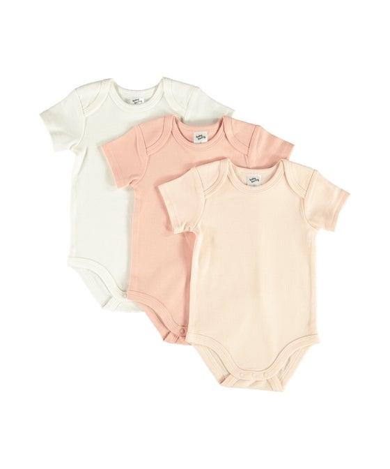 Babies' 3 Pack Short Sleeve Bodysuits