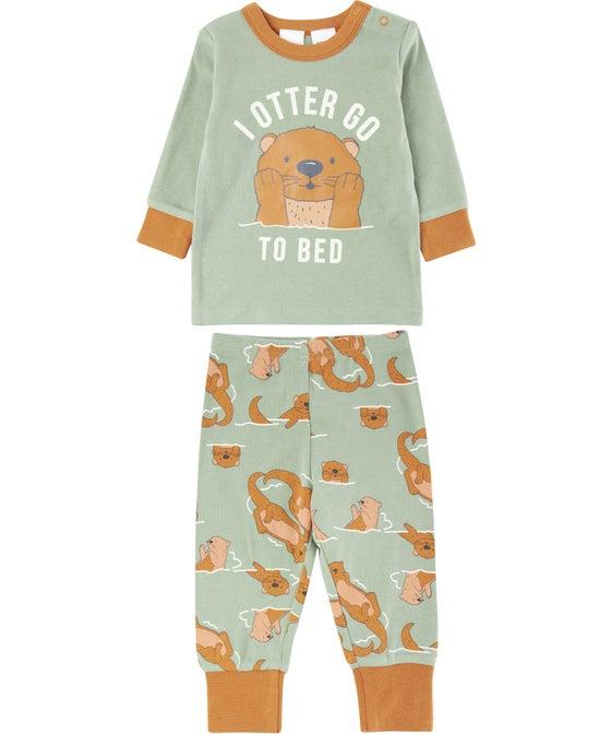 Babies' Knit Winter PJ Set