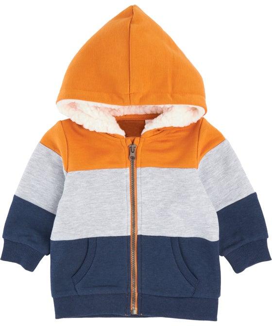 Babies' Panelled Sherpa Hoodie