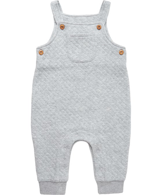 Babies' Quilted Terry Overalls