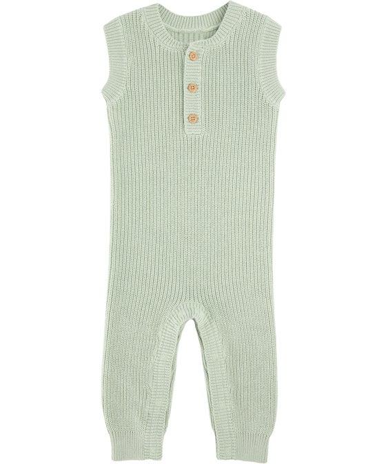 Babies' Sleeveless Rib Romper