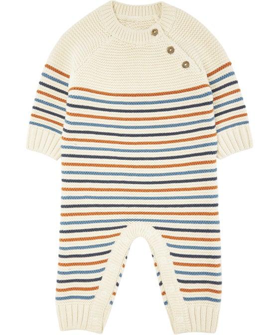 Babies' Striped Knit Onesie
