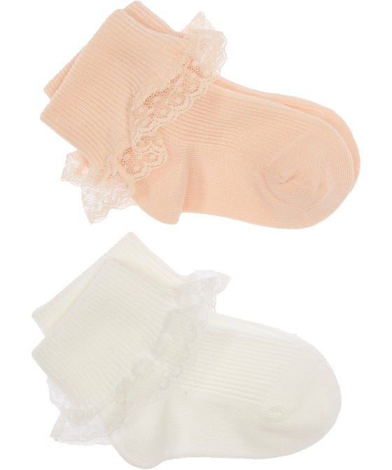 Babies' 2 Piece Frilly Party Socks