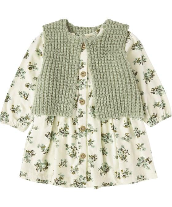 Babies' 2 Piece Knit Gilet Dress Set