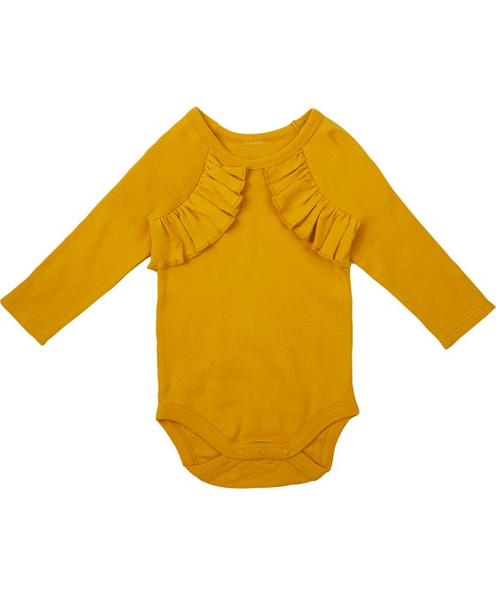 Babies' Frill Front Long Sleeve Bodysuit