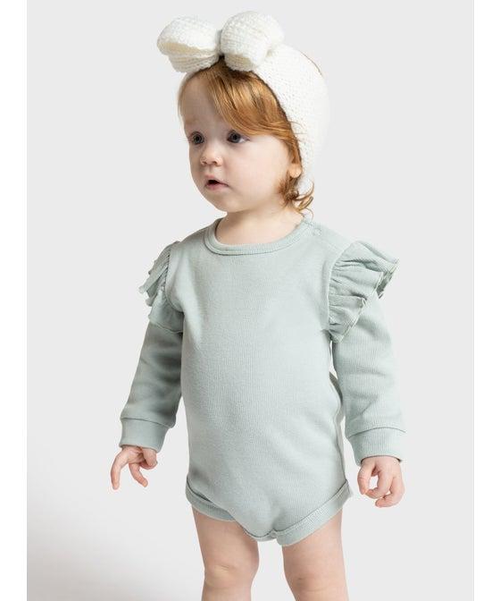 Babies' Frill Rib Longsleeve Bodysuit