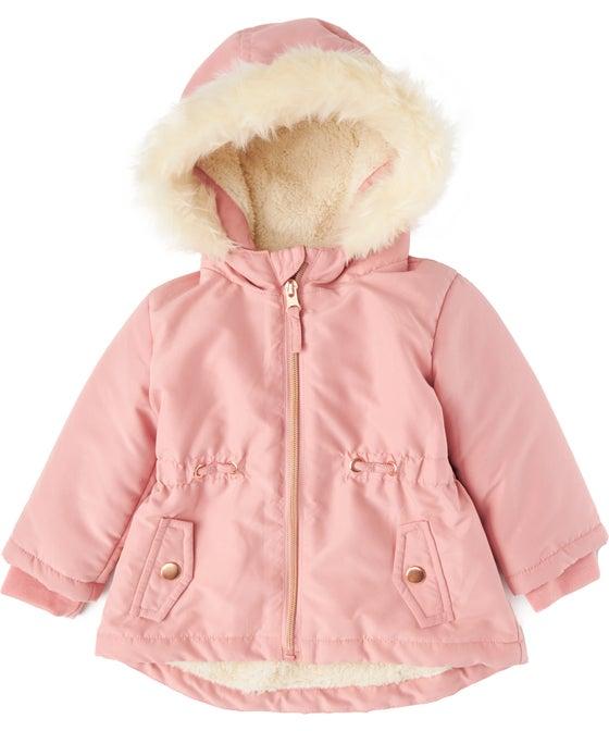 Babies' Fur Hood Parka Jacket
