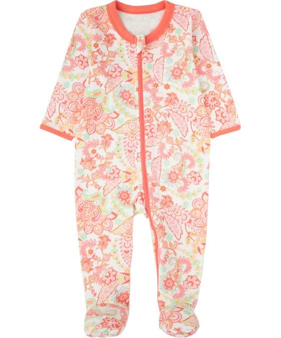 Babies' Interlock Zip Growsuit