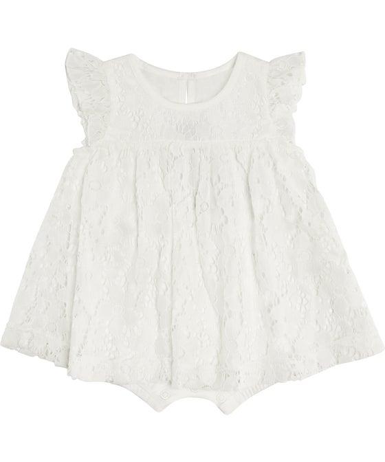 Babies' Knit Lace Romper Dress