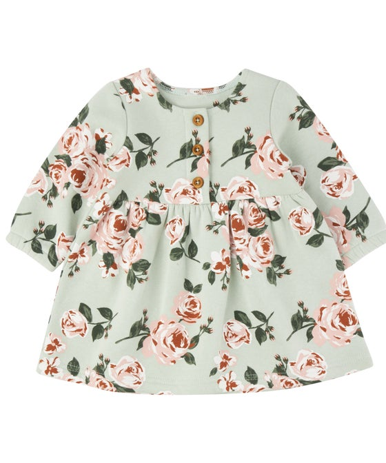 Babies' Long Sleeve Printed Fleece Dress