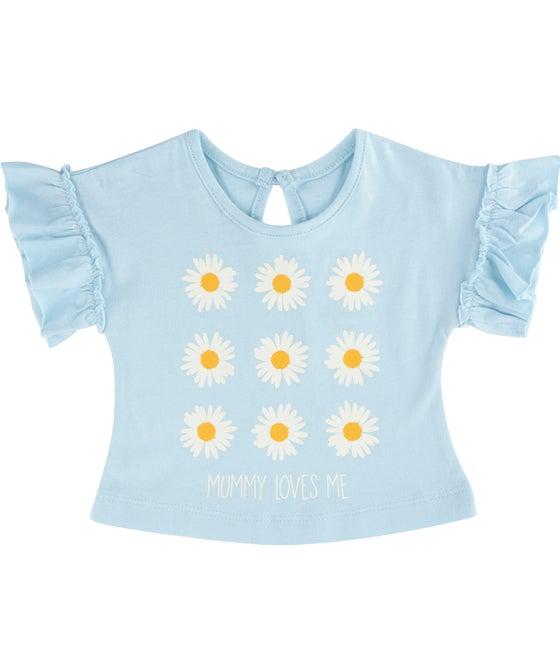 Babies' Print Frill Sleeve Tee