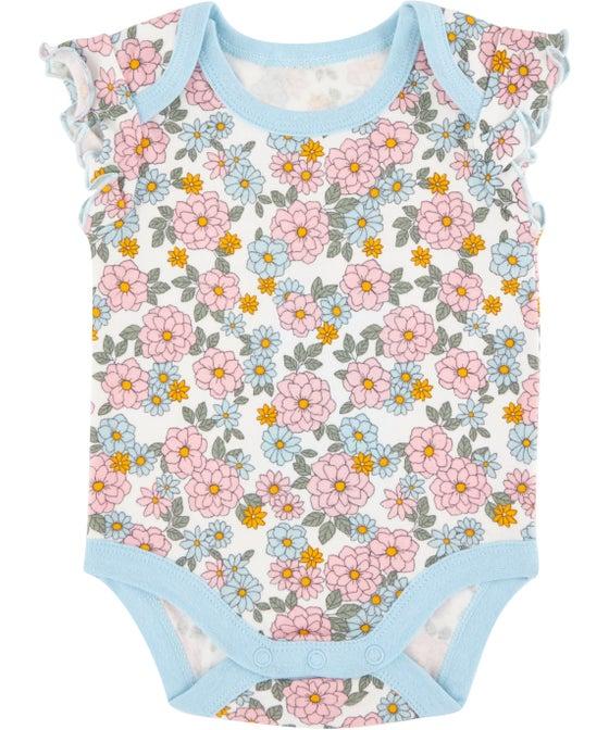 Babies' Frill Sleeve Print Bodysuit