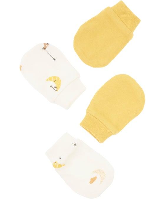 Babies' 2 Pack Organic Cotton Mittens