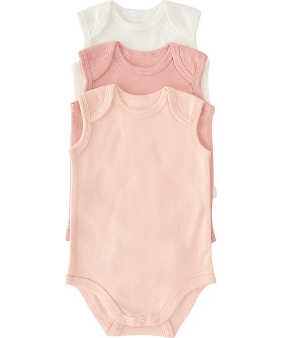Babies' Short Sleeve Bodysuit 3 Pack