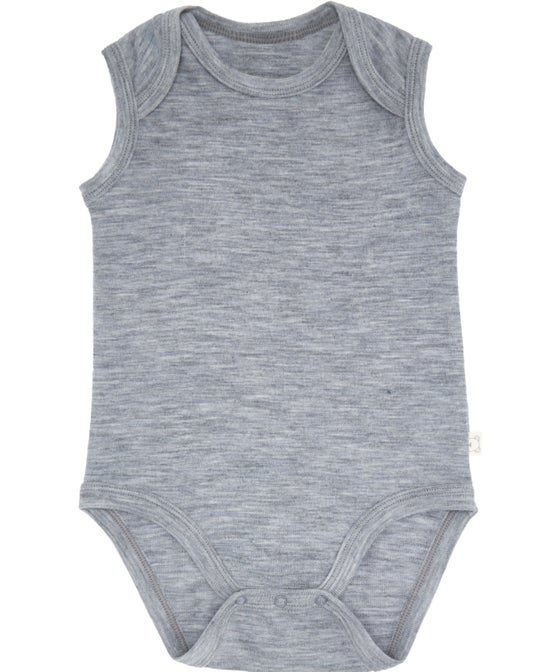 Babies' Sleeveless Merino Bodysuit