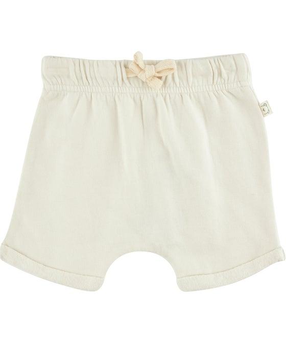 Babies' Organic Cotton Roll-up Sweat Shorts