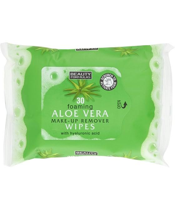Beauty Formulas Aloe Vera Foaming Facial Wipes