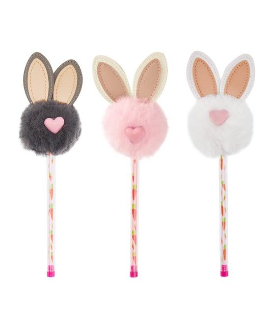 Bunny Pom Pom Pen - Assorted