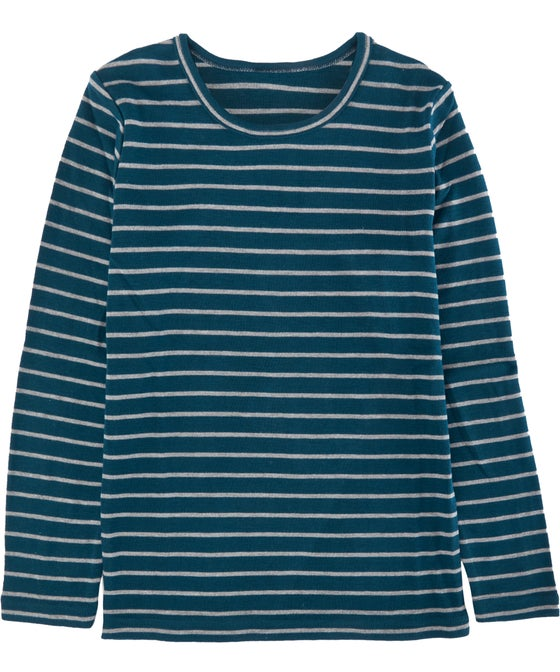 Kids' Thermo Long Sleeve Stripe Thermal Top