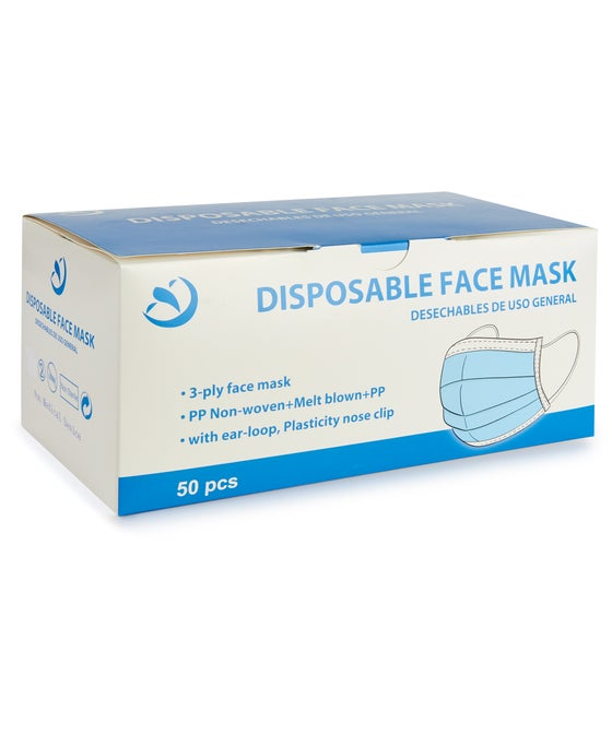 Pack of 50 Disposable Face Masks