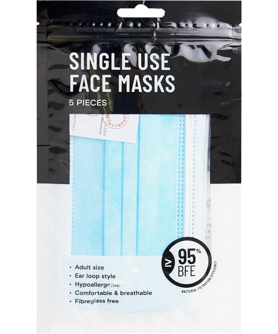 Disposable Face Mask 5 Pack