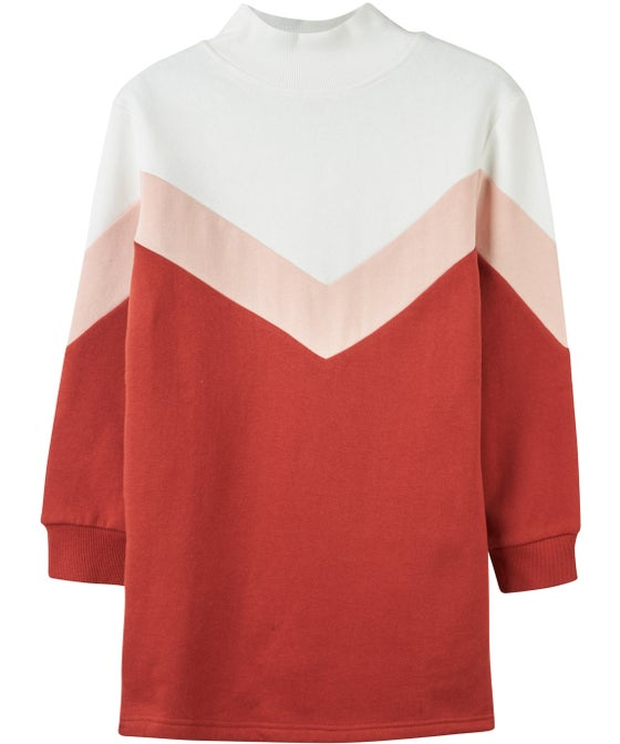 Kids' Chevron Sweatshirt Dress