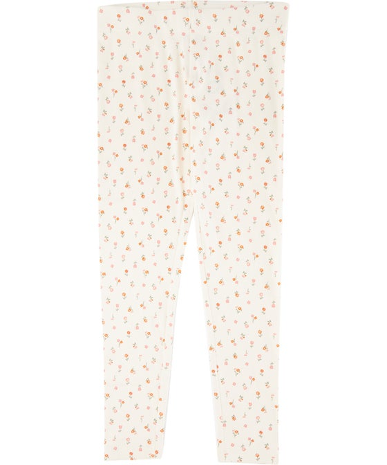 Kids' Full Length Organic Cotton Rib Printed Legging