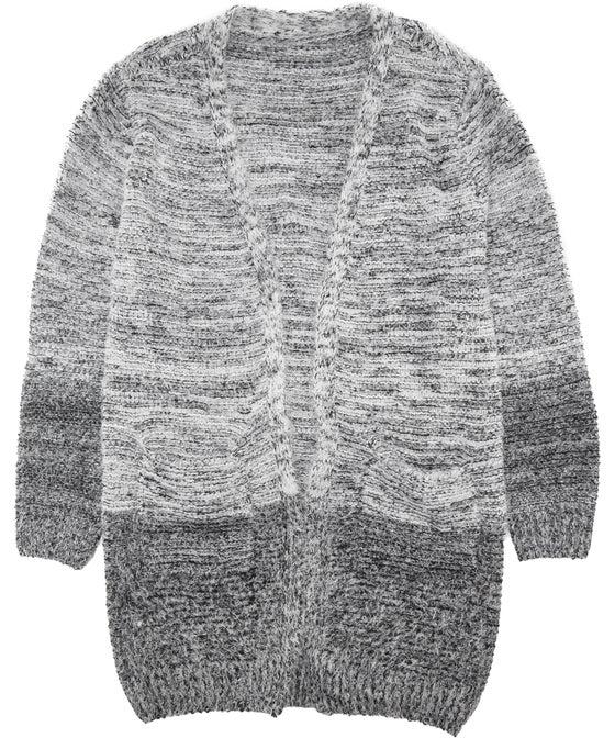 Kids' Fluffy Textured Long Line Cardi