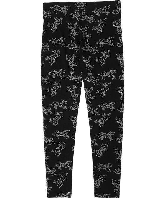 Kids' Glitter Print Full Length Leggings