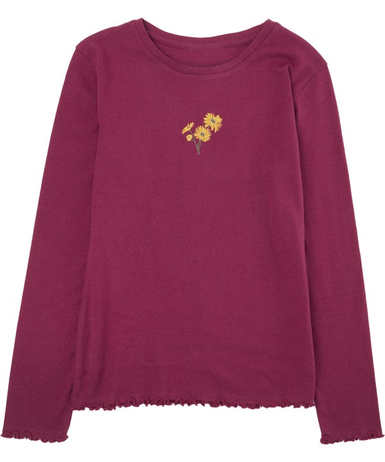 Kids' Long Sleeve Placement Rib Top