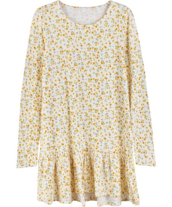 Kids' Long Sleeve Print Knit Dress