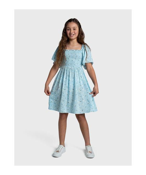 Kids' Miss Mango Shirred Woven Dress
