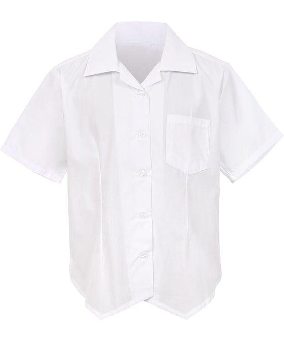 School+ Short Sleeve Over Blouse