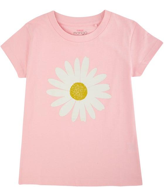 Kids' Short Sleeve Glitter Print Tee