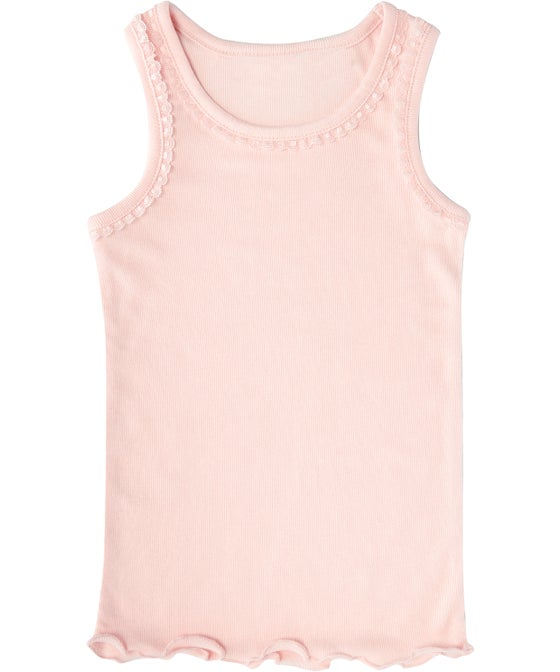 Kids' Thermo Lace Trim Thermal Singlet