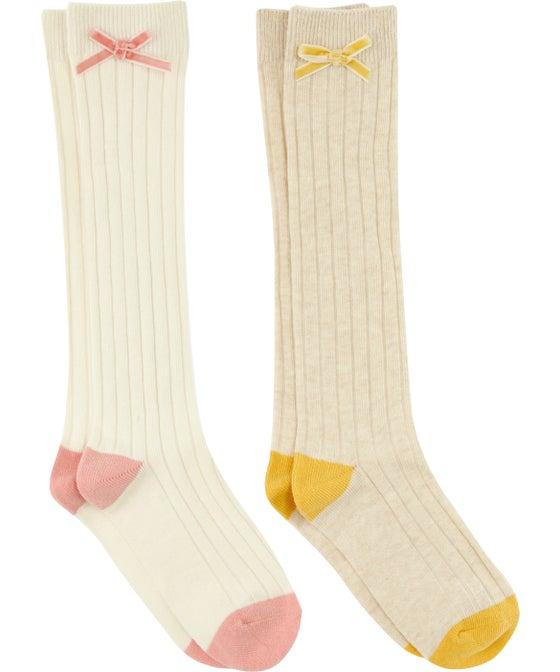 Girls' 2 Pack Knee High Sock
