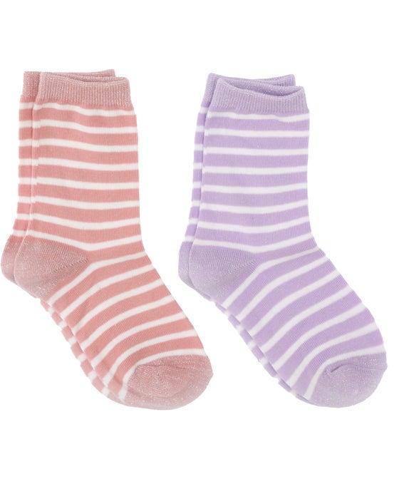 Girls' 2 Pack Crew Socks