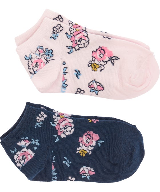 Girls Favourites 2 Pack Low Cut Jacquard Socks