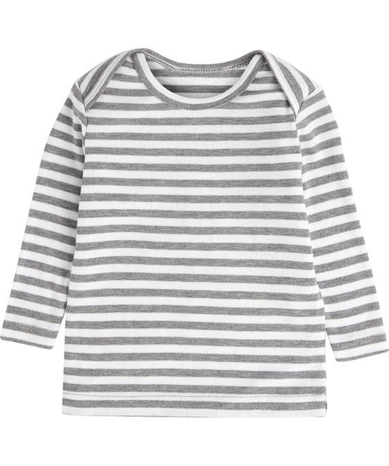 Infants Thermo Envelope Neck Stripe Thermal Top